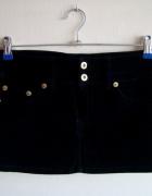 Czarna Sztruksowa Spódnica Mini Terranova XS...
