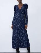 Długa sukienka w groszki ZARA...