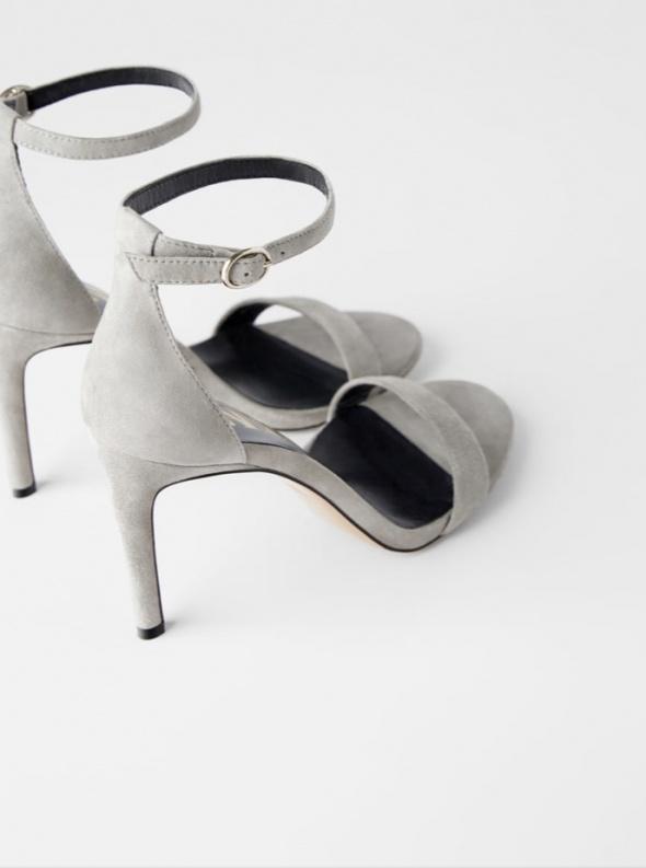 Skórzane sandały ZARA