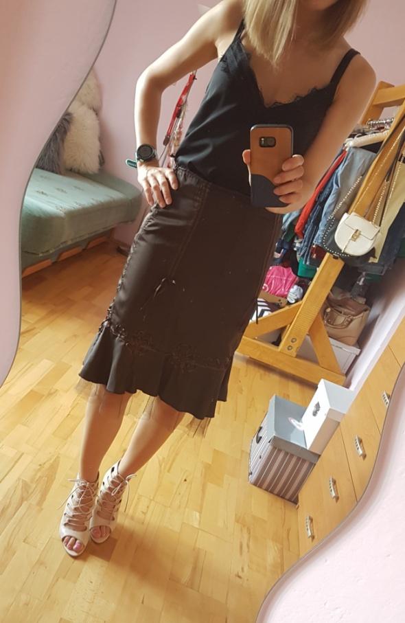 Spódnice Brązowa spódnica Kokarda tiul