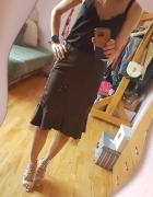 Brązowa spódnica Kokarda tiul...