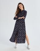 Długa koszulowa sukienka guziczki SinSay Skwiaty floral XS S...