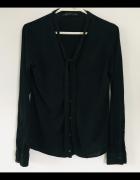 Czarny Delikatny Sweterek Narzutka Zara 38 M...