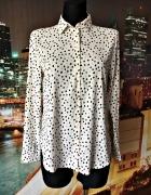 h&m bluzka koszulowa elegancka ala grochy hit 36 S...