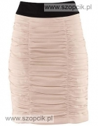 Nowa spódnica H&M falbany marszczenia pudrowy róż...