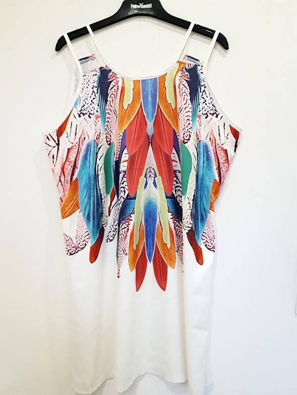 sukienka letnia kolorowa 46 48
