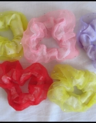 kolorowe gumki frotki do włosów dla dziewczynki 5 sztuk...