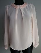 Bluzka perełki pudrowy róż...