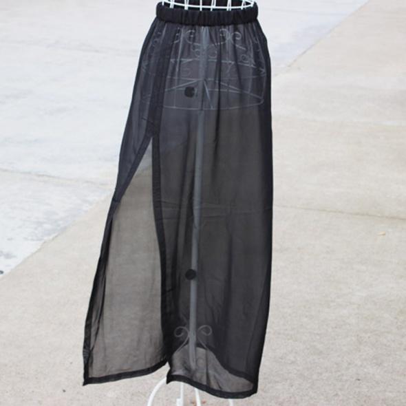 Spódnice Seksowna szyfonowa długa spódnica rozm S M