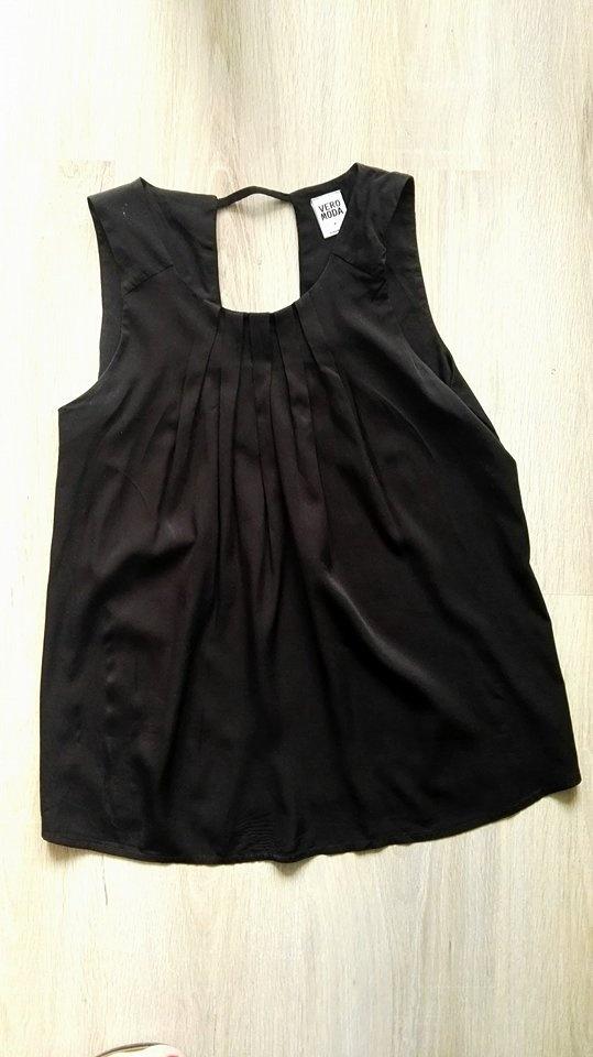 Bluzki Vero Moda czarna piękna bluzka 38 M