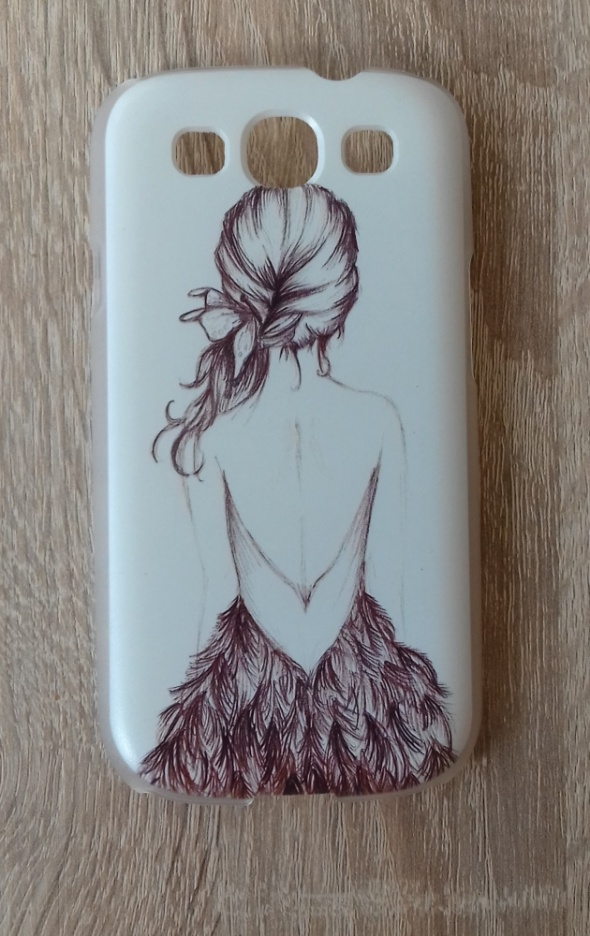Nowe etui Samsung Galaxy S3 białe dziewczyna nadruk case