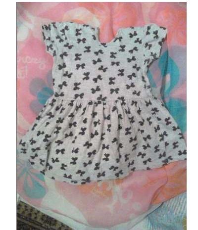 Sukienka szara dziecięca niemowlęca kokardki 80