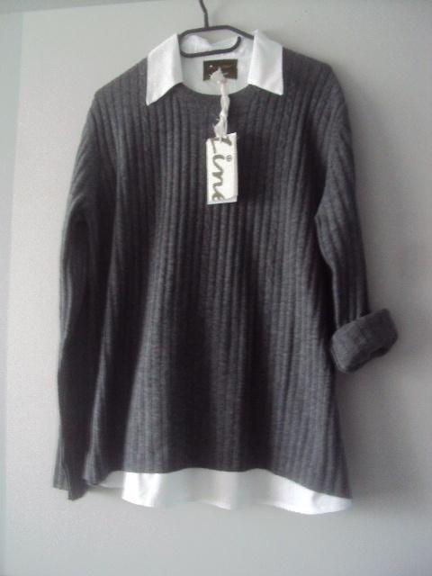 nowy oryginalny sweterek z koszula