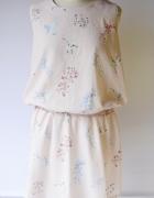 Sukienka Kwiaty Pudrowy Róż L 40 Cocomore Koliber...