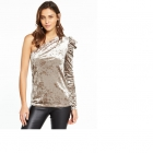 V By Very Welurowa bluzka jedno ramię Rozm L XL