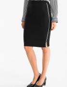 NOWA czarna spódniczka spódnica ołówkowa midi elegancka biznesowa 36