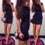 Extra sukienka z bocznymi wiązaniami midi HIT...