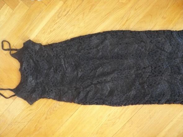 Czarna długa sukienka 40