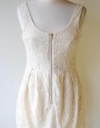 Sukienka Koronkowa Zip M 38 Kremowa Koronka H&M...