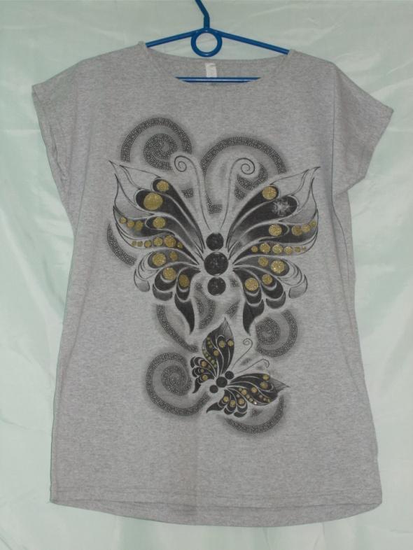 Bluzka bluzka z krótkim rękawem motyle 42 44