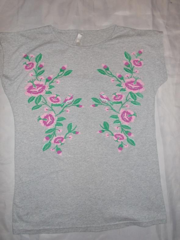 Bluzka bluzka z krótkim rękawem bluzka w kwiatki 42 44 46