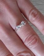 Srebrny pierścionek celebrytka z kokardką 925 nowy...