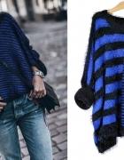 Sweterek w paski oversize rozm SM...