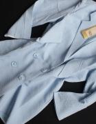 Letni błękitny płaszcz L XL...