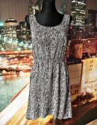 only sukienka asymetryczna modny wzór hit 40 L