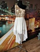 quiz sukienka cekiny mgiełka balowa studniówka wesele 40...