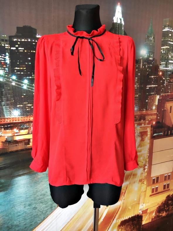 savida bluzka czerwona galowa elegancka kokardka nowa 42