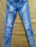 Spodnie jeansy przetarcia dziury marmurki 36 S...
