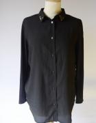 Koszula Czarna H&M XS 34 Elegancka Kryształki Mgiełka...