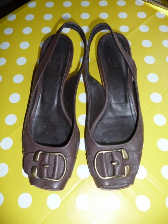 Skórzane brązowe sandały 39