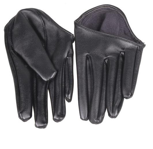 Eleganckie czarne rękawiczki do auta