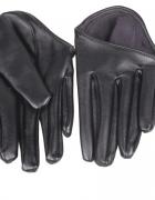 Eleganckie czarne rękawiczki do auta...