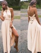 Długa suknia 11 kolorów wesele druhny 24 ułożenia...