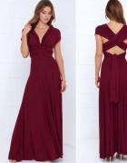 Długa suknia 11 kolorów wesele druhny 24 ułożenia