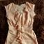 Sukienka morelowa z falbaną XS 34...