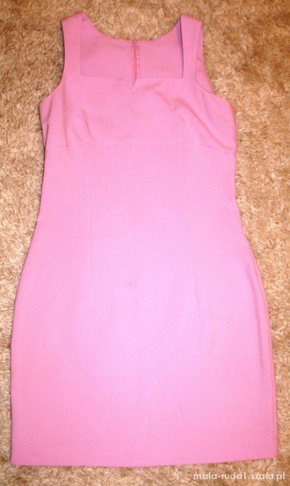 prosta i elegancka sukienka w różu roz 34 36