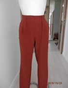 Spodnie Paperbag Wysoki Stan Karmelowe Rude Vero Moda S...