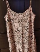 Letnia sukienka w kwiatki różowa House rozm 36 S mini na ramiąc...