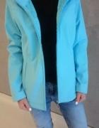 Błękitna niebieska kurtka z futerkiem od wewnątrz rozm M 38 z k...