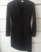 Nowa czarna sukienka H&M 36 S...