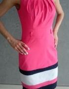 Różowa sukienka ołówkowa elegancka rozm 36 Wesele Ślub Chrzciny...