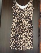 sukienka wzór pantera
