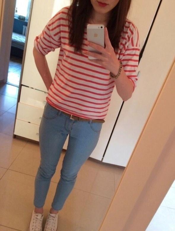 Spodnie spodnie jeansy rurki 7 8