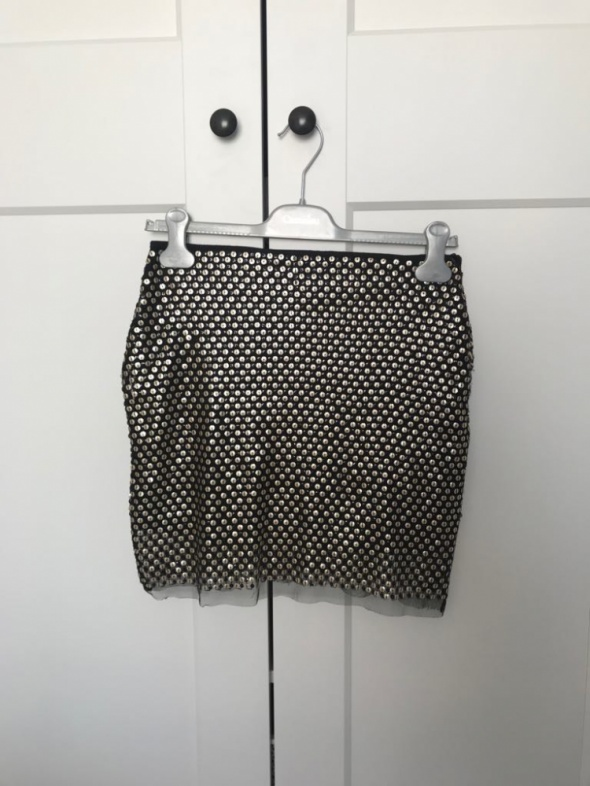 Spódnice Spódniczka cekinowa mini spódnica siateczka S 36 Cubus