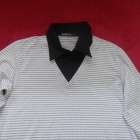 Elegancka wygodna bluzka z kołnierzem L Cargo