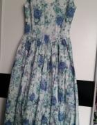 Śliczna sukienka kwiaty 38 r...